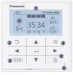 Panasonic WH-SDC12H9E8/WH-UD12HE8 панель управления