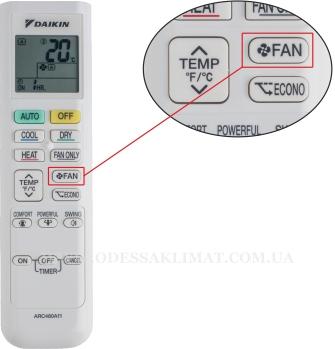 Daikin управление скоростью вентилятора