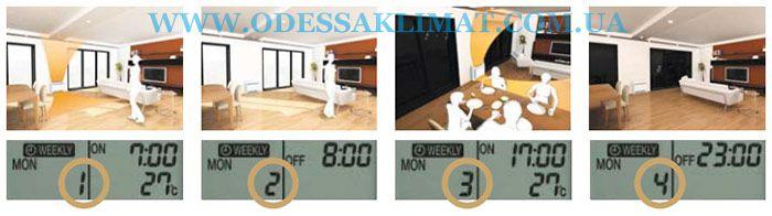 Daikin weekly timer