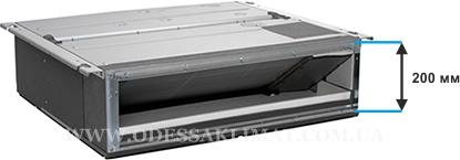 Daikin FDXM-F9 размеры, скрытый монтаж