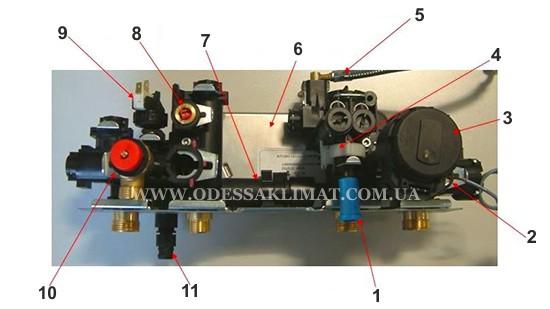 Baxi Eco 4s Гидравлический модуль