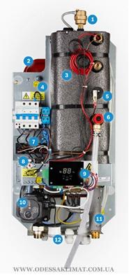Bosch электрокотел компоновка