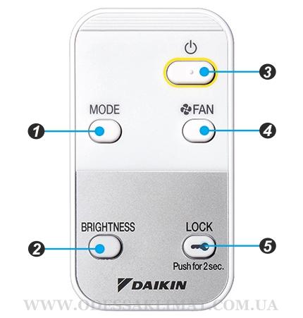 Daikin MC55W пульт дистанционного управления